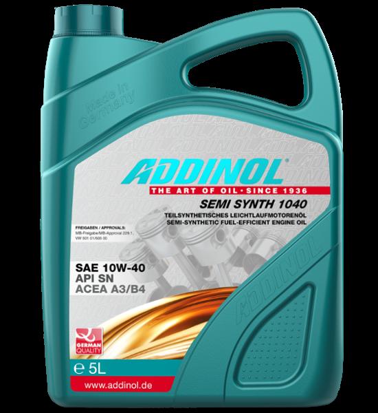 ADDINOL SAE 10W-40, Semi Synth 1040, 5 Liter