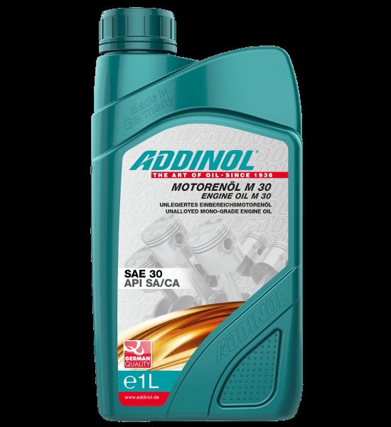 ADDINOL M30 Oldtimer-Motorenöl - SAE 30 - mineralisch - Einbereichsöl, 1 Ltr. PE-Dose