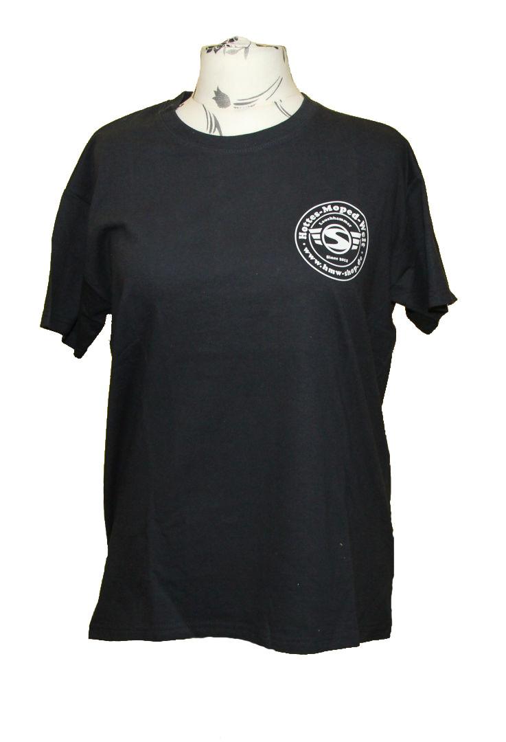 T-Shirt HMW schwarz inkl. Brustdruck Logo weiß Unisex