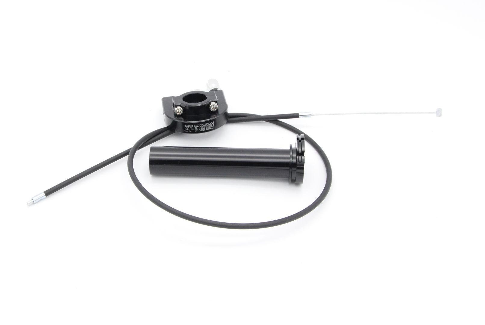 Schnellgasgriff CNC ZT-Tuning Schwarz inkl. Bowdenzug