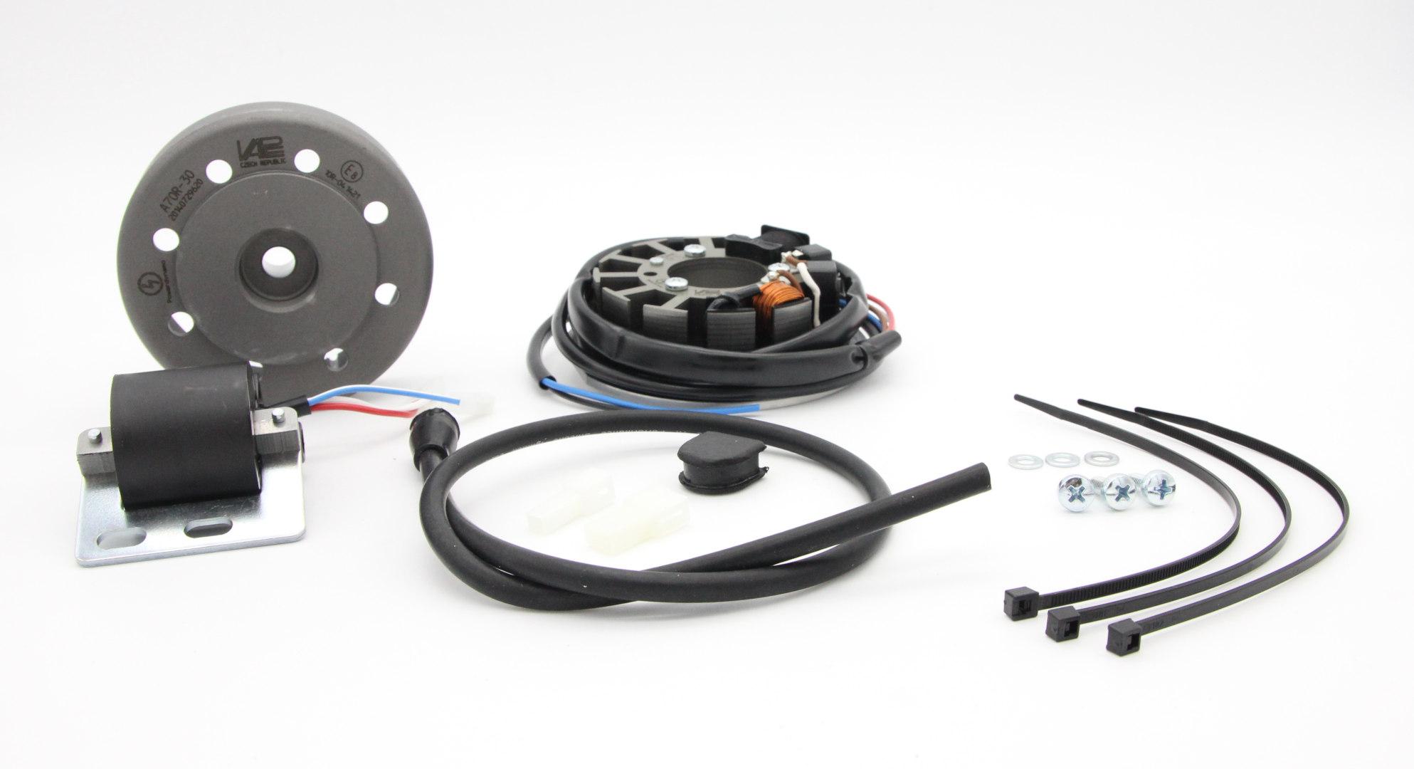 Lichtmagnetzündanlage 6V 18W mit integrierter vollelektronischer Zündung für SR1, SR2, SR2E, KR50